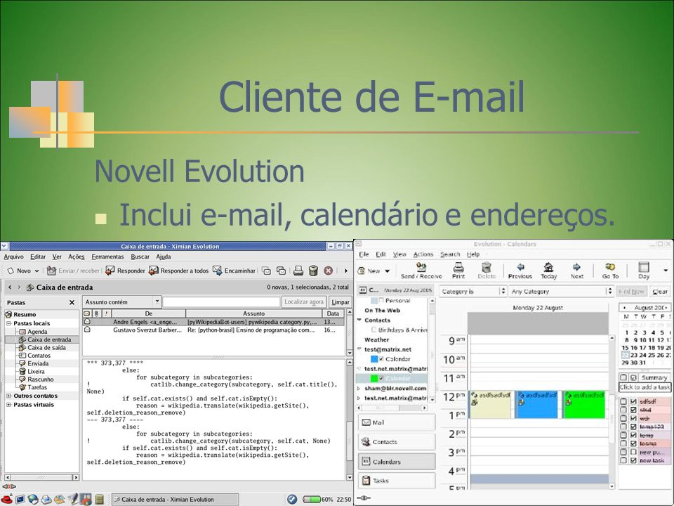 Cliente de E-mail Novell Evolution