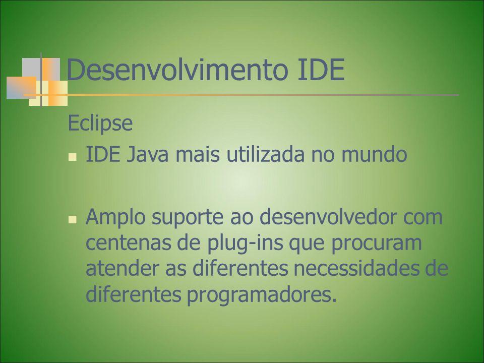 Desenvolvimento IDE Eclipse IDE Java mais utilizada no mundo