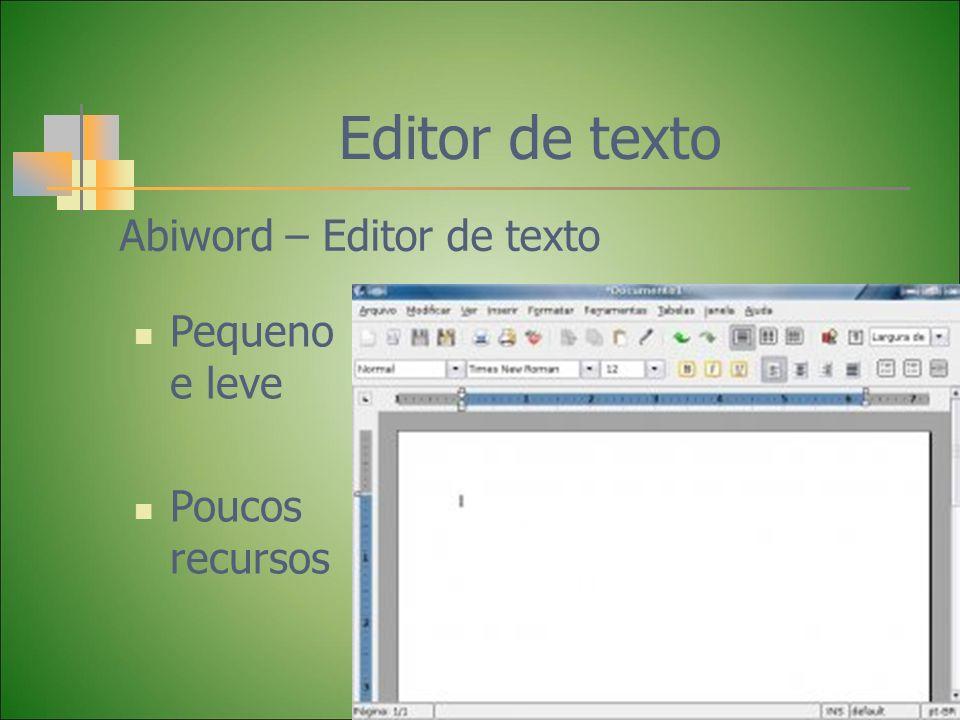Editor de texto Abiword – Editor de texto Pequeno e leve