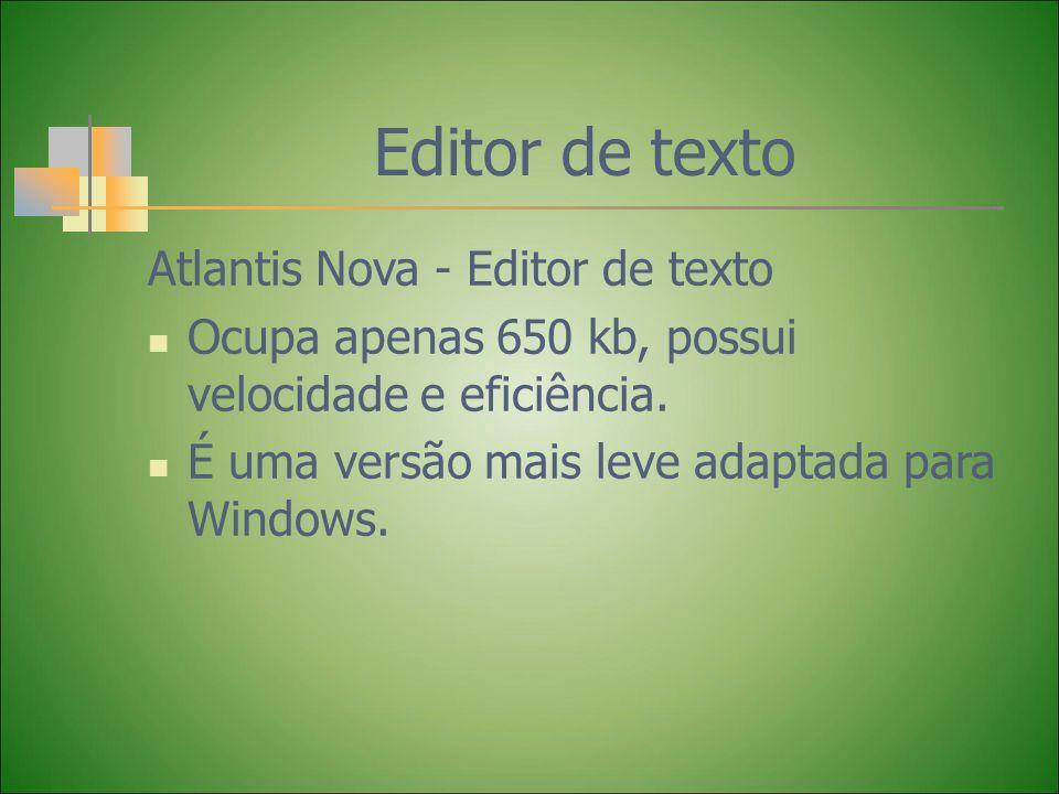 Editor de texto Atlantis Nova - Editor de texto