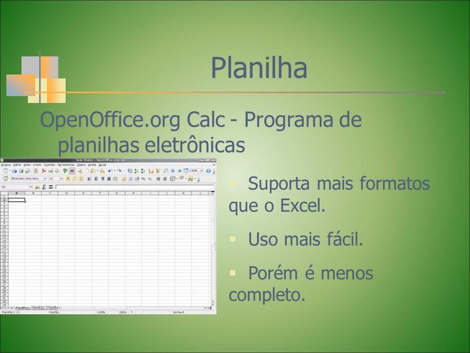 Planilha OpenOffice.org Calc - Programa de planilhas eletrônicas