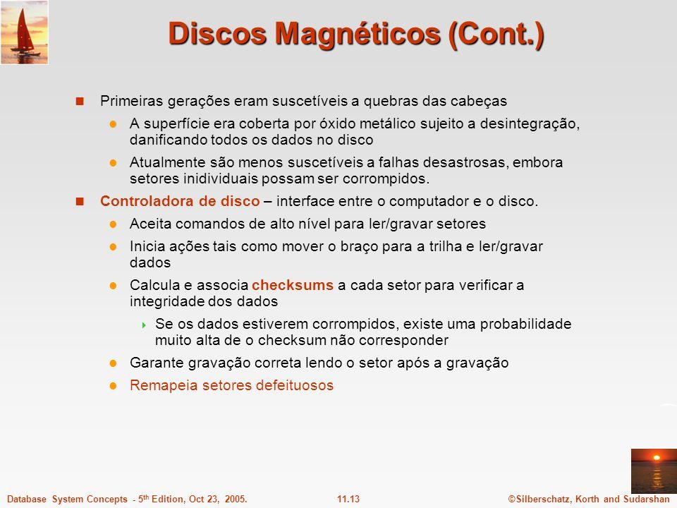 Discos Magnéticos (Cont.)