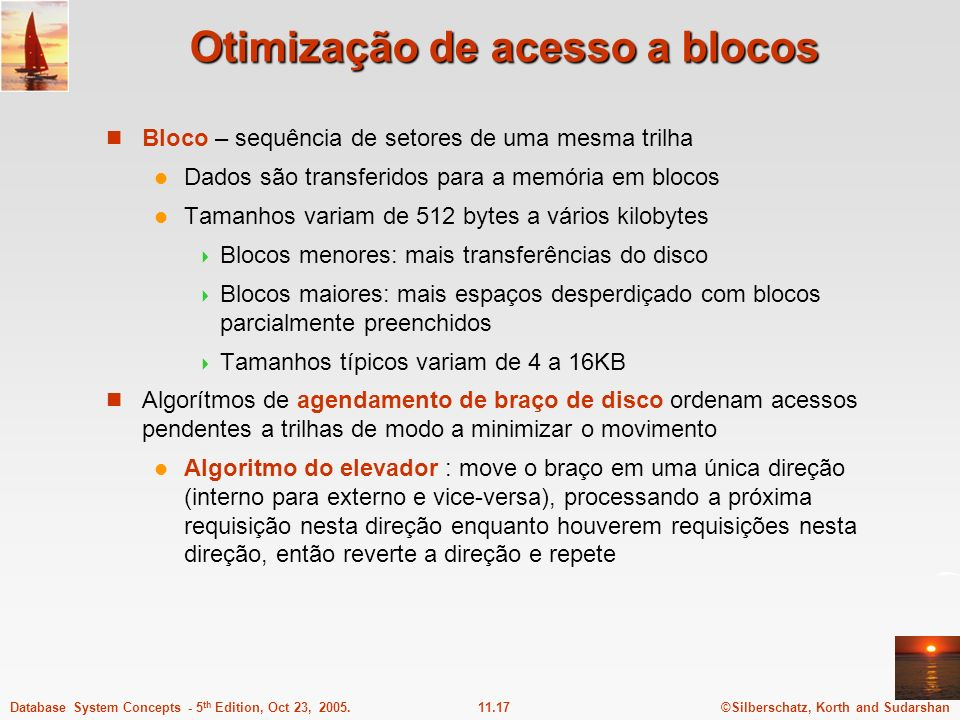 Otimização de acesso a blocos