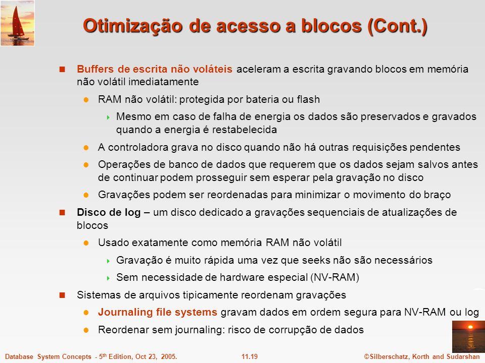 Otimização de acesso a blocos (Cont.)