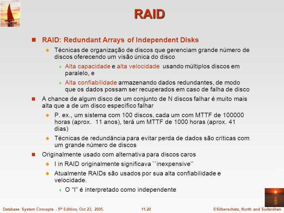 RAID RAID: Redundant Arrays of Independent Disks