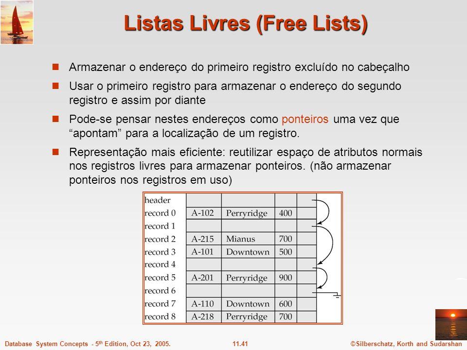Listas Livres (Free Lists)