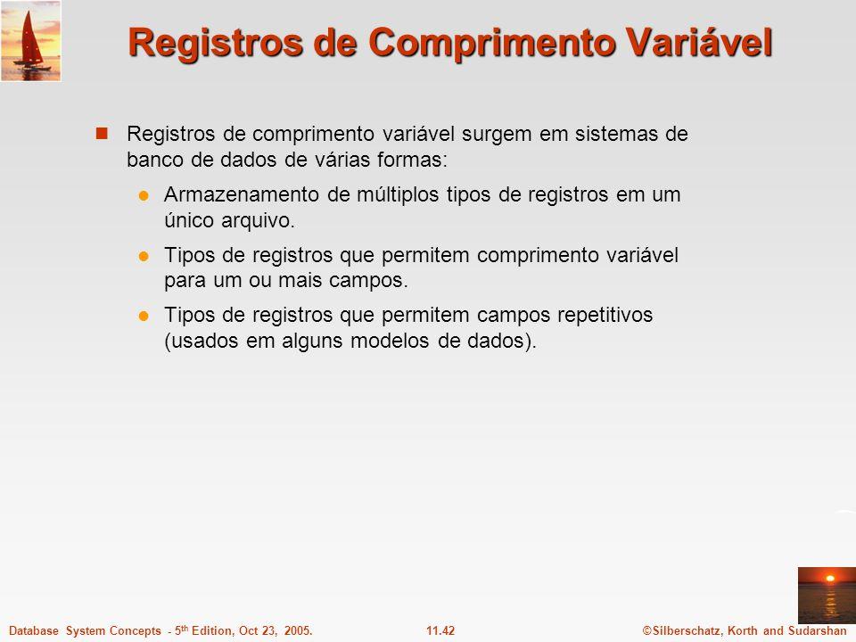 Registros de Comprimento Variável