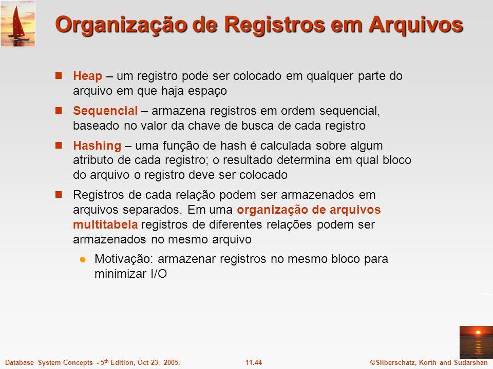 Organização de Registros em Arquivos