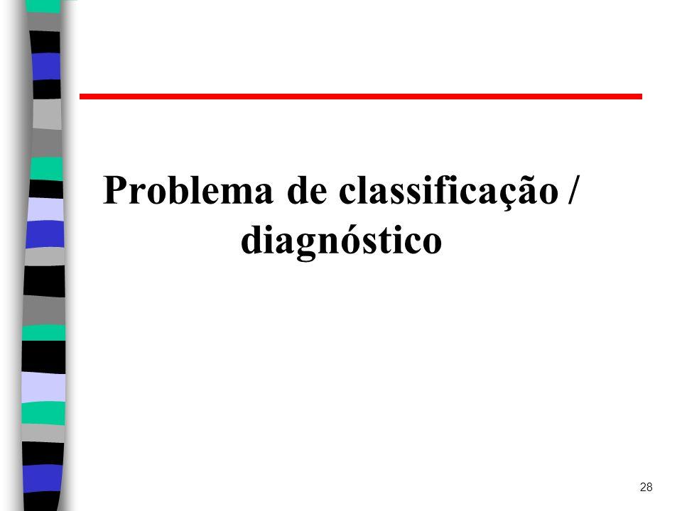 Problema de classificação / diagnóstico