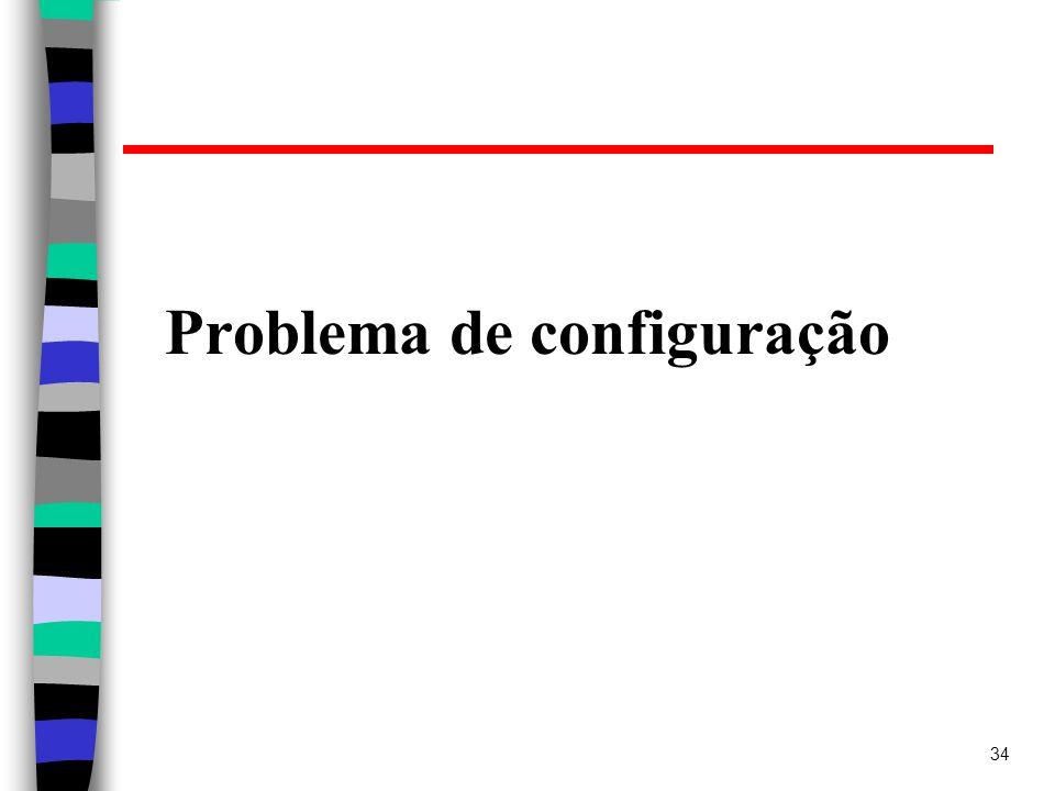 Problema de configuração