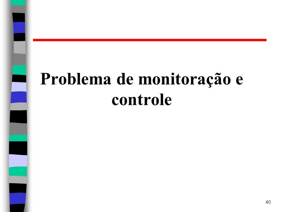 Problema de monitoração e controle