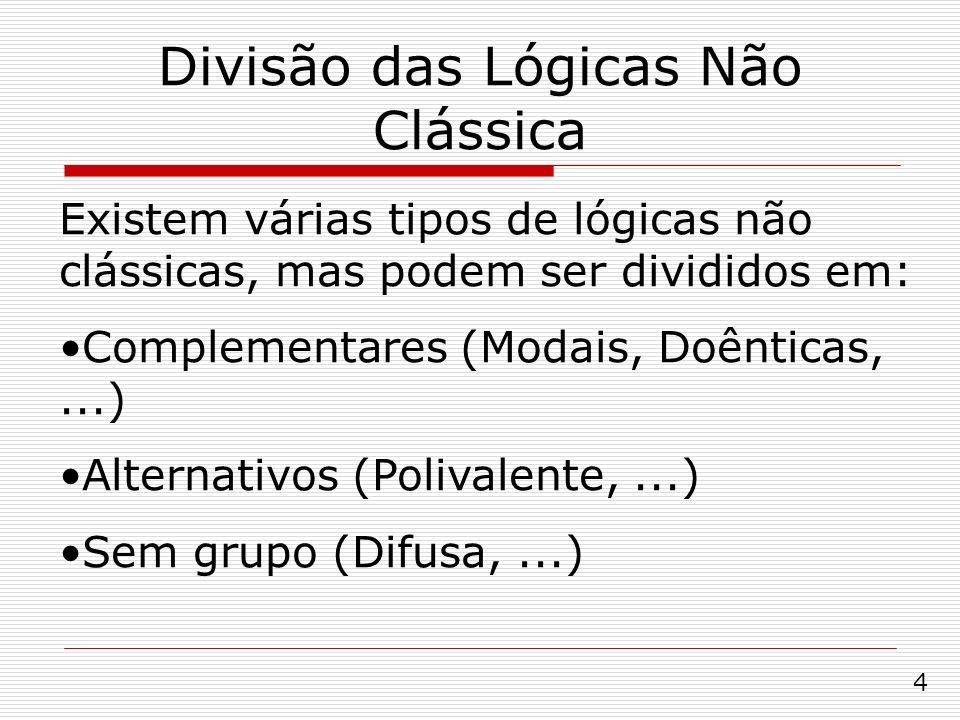 Divisão das Lógicas Não Clássica