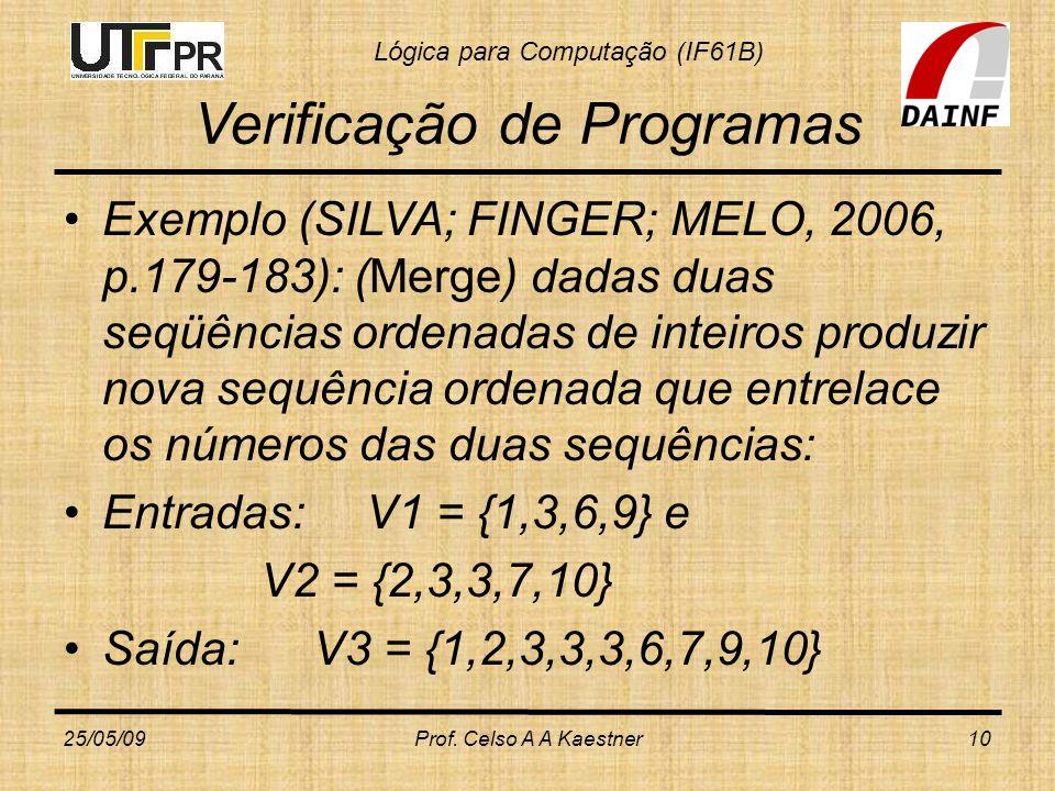 Verificação de Programas