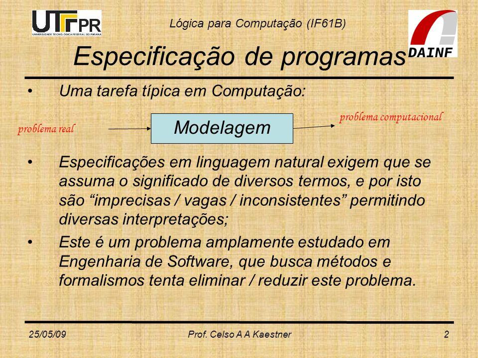 Especificação de programas