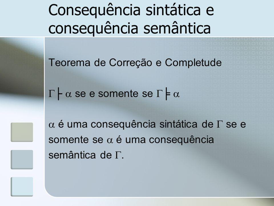 Consequência sintática e consequência semântica