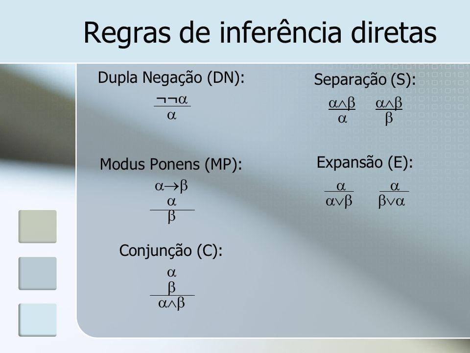 Regras de inferência diretas