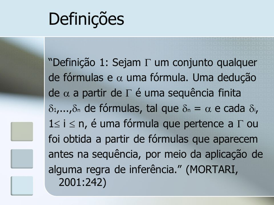 Definições Definição 1: Sejam  um conjunto qualquer