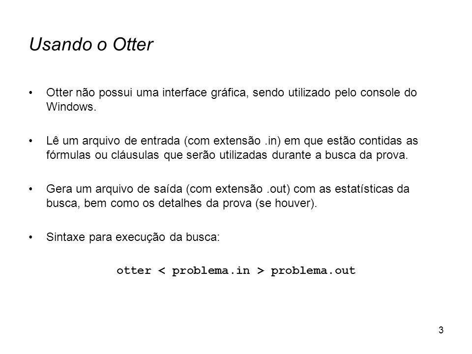 otter < problema.in > problema.out