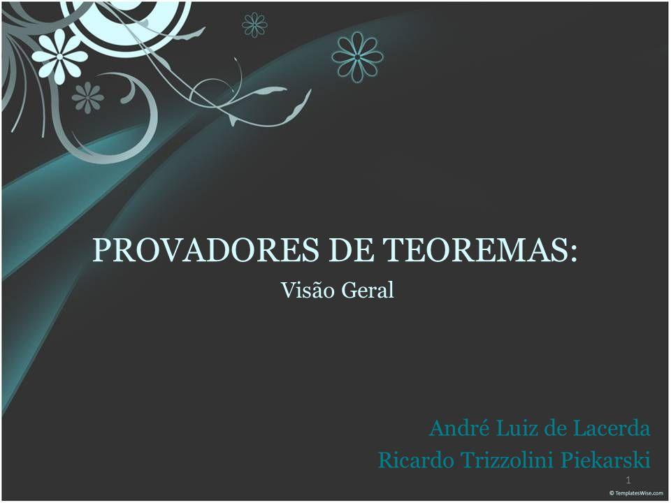 PROVADORES DE TEOREMAS: