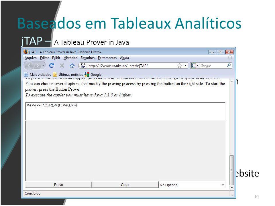 Baseados em Tableaux Analíticos