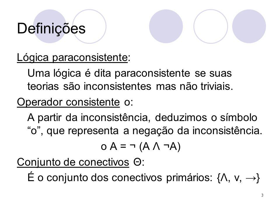 Definições Lógica paraconsistente: