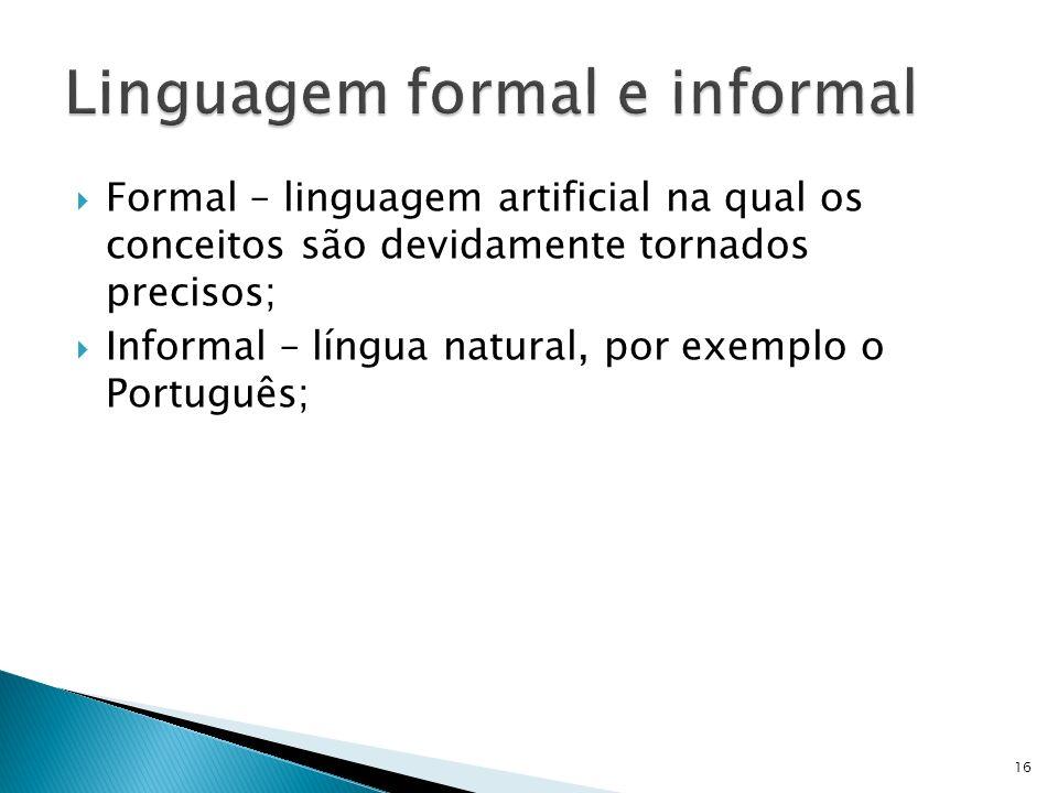 Linguagem formal e informal