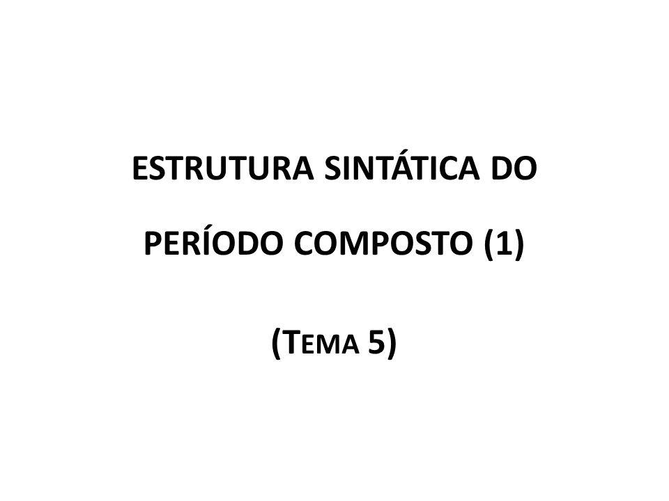 ESTRUTURA SINTÁTICA DO