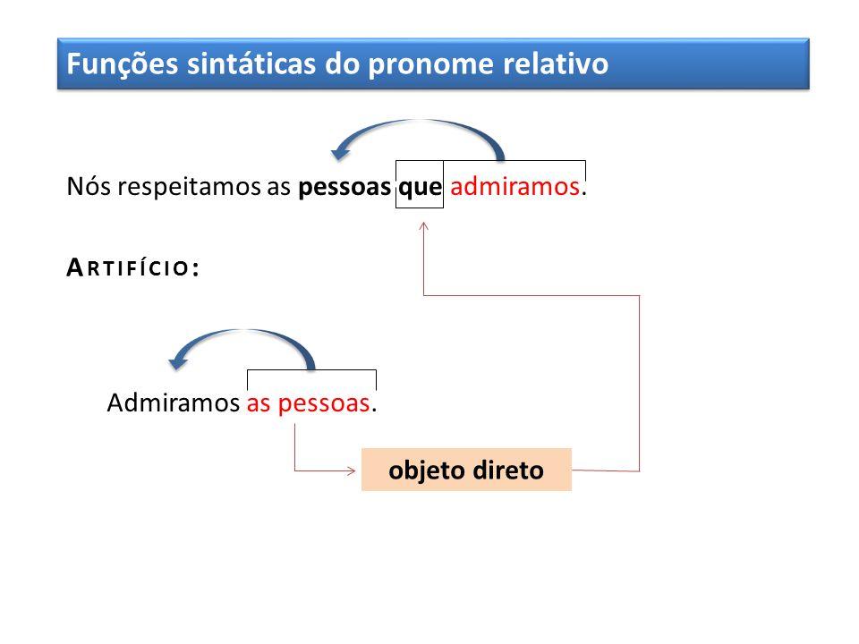 Funções sintáticas do pronome relativo