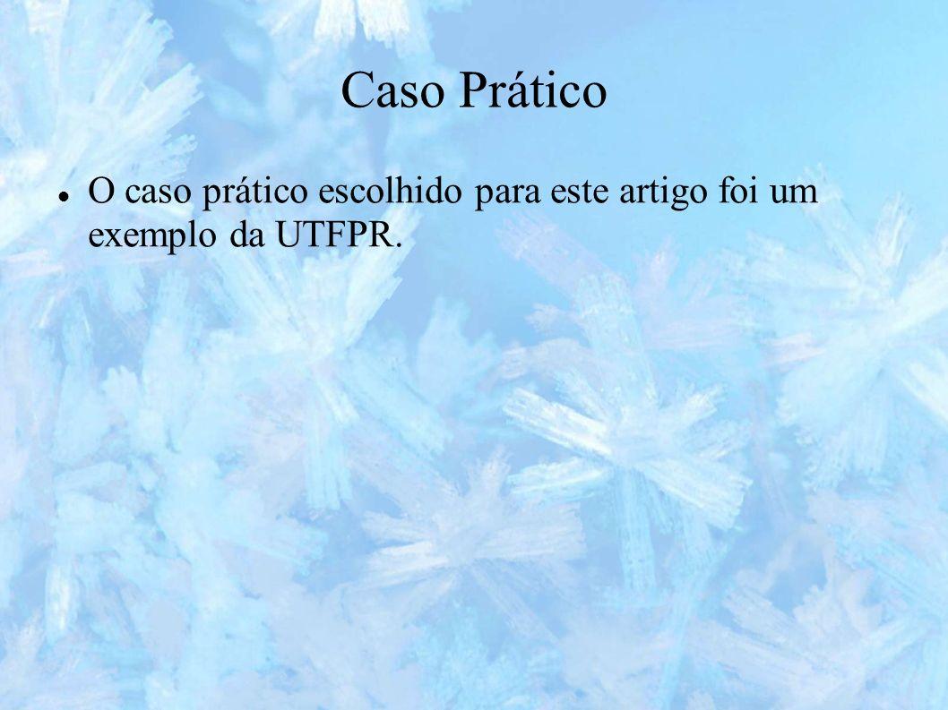 Caso Prático O caso prático escolhido para este artigo foi um exemplo da UTFPR.