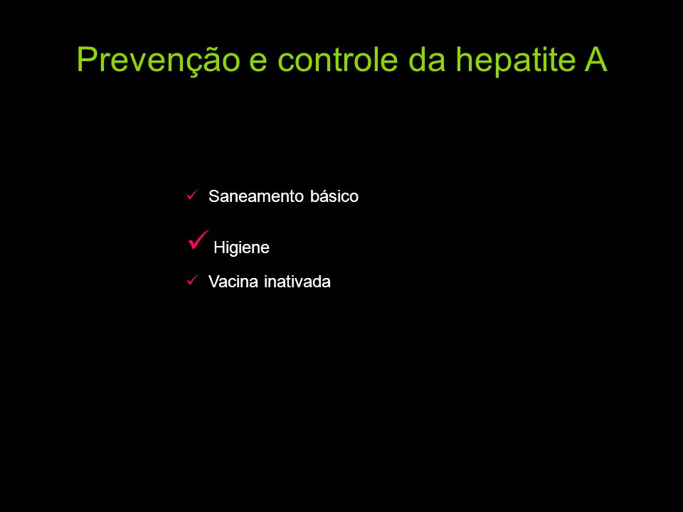 Prevenção e controle da hepatite A