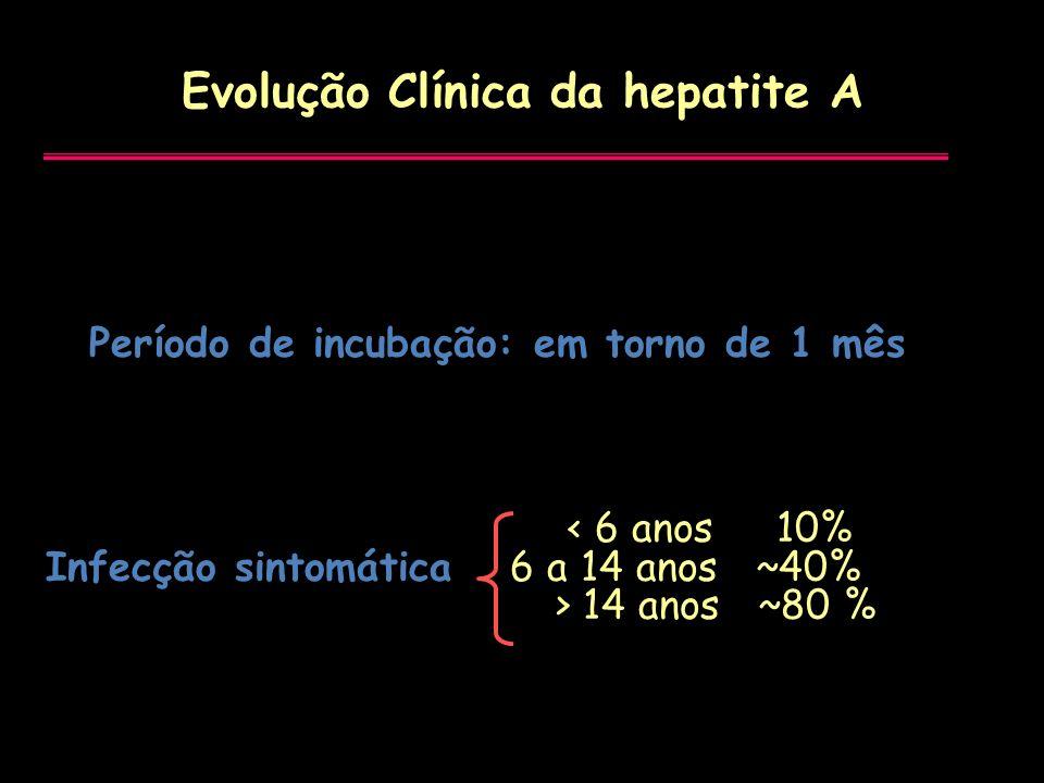 Evolução Clínica da hepatite A
