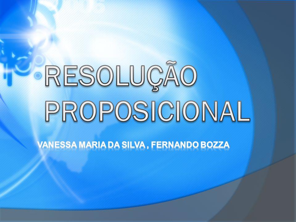RESOLUÇÃO PROPOSICIONAL