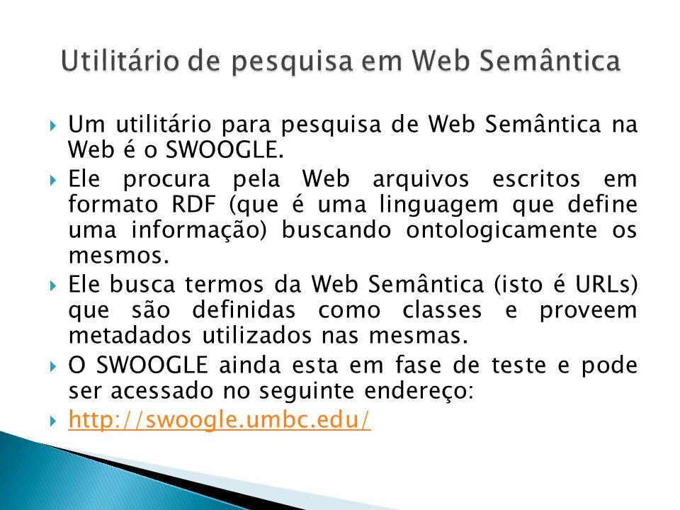 Utilitário de pesquisa em Web Semântica