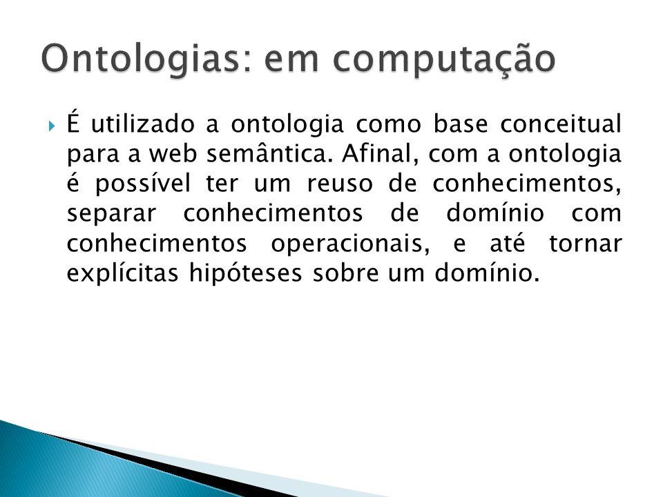 Ontologias: em computação