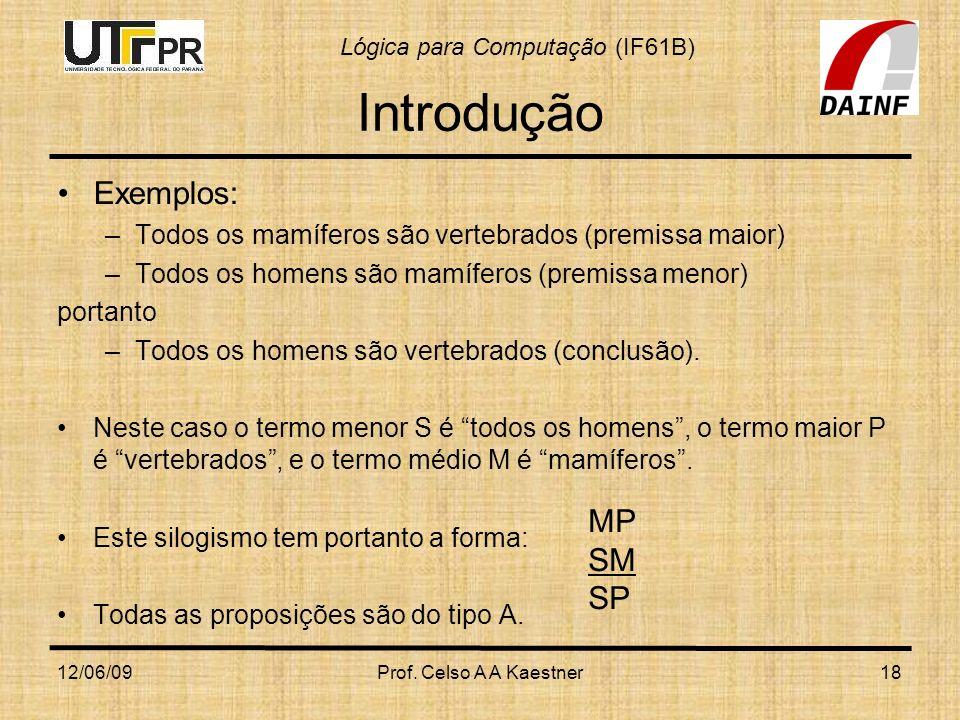 Introdução Exemplos: MP SM SP
