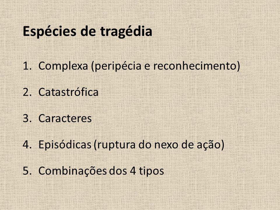 Espécies de tragédia Complexa (peripécia e reconhecimento)