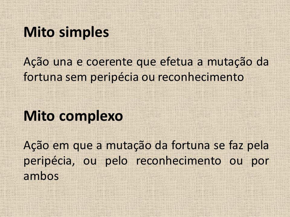 Mito simples Mito complexo