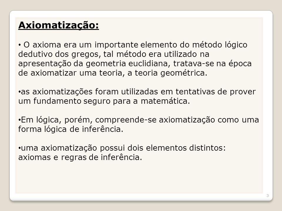 Axiomatização: