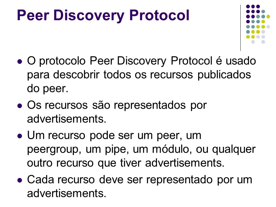 Peer Discovery Protocol