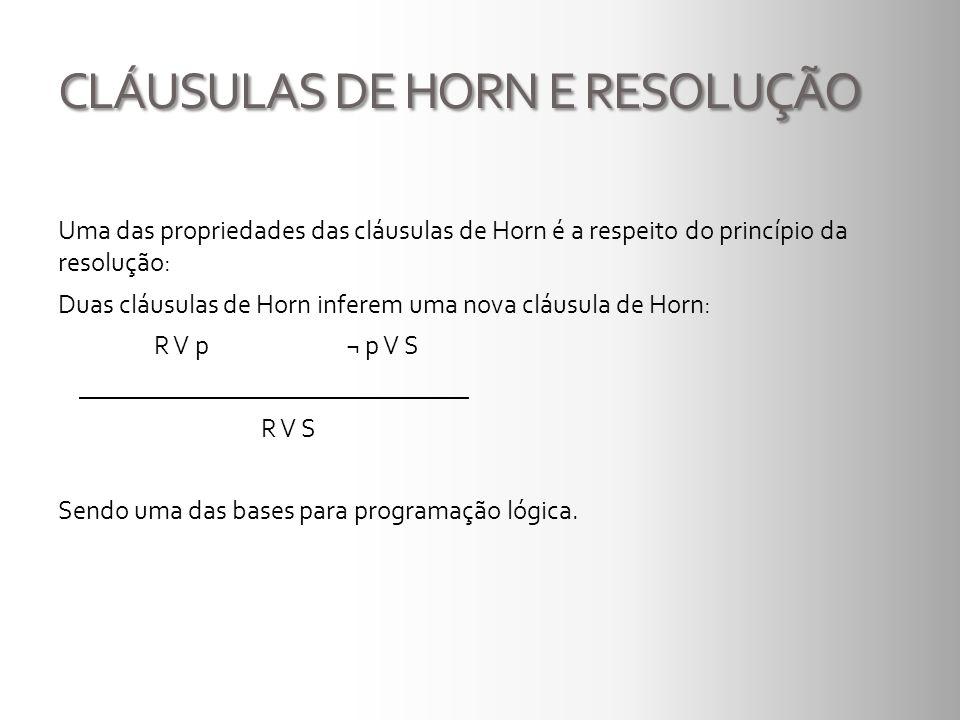 CLÁUSULAS DE HORN E RESOLUÇÃO