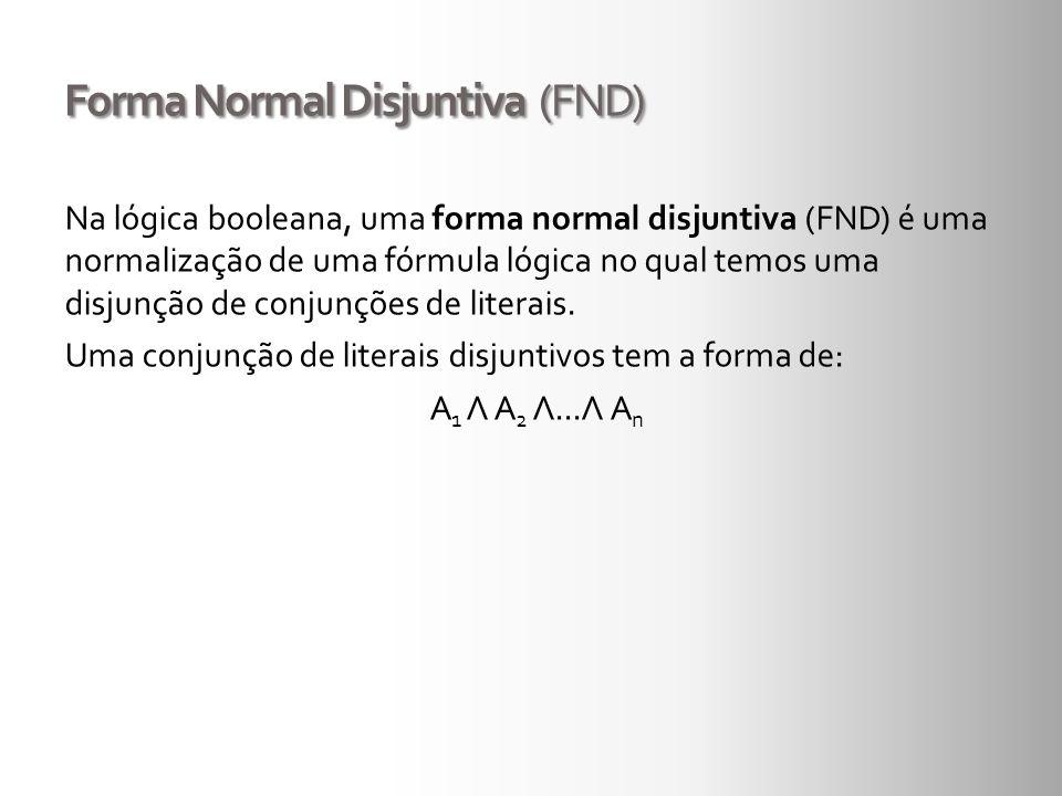 Forma Normal Disjuntiva (FND)