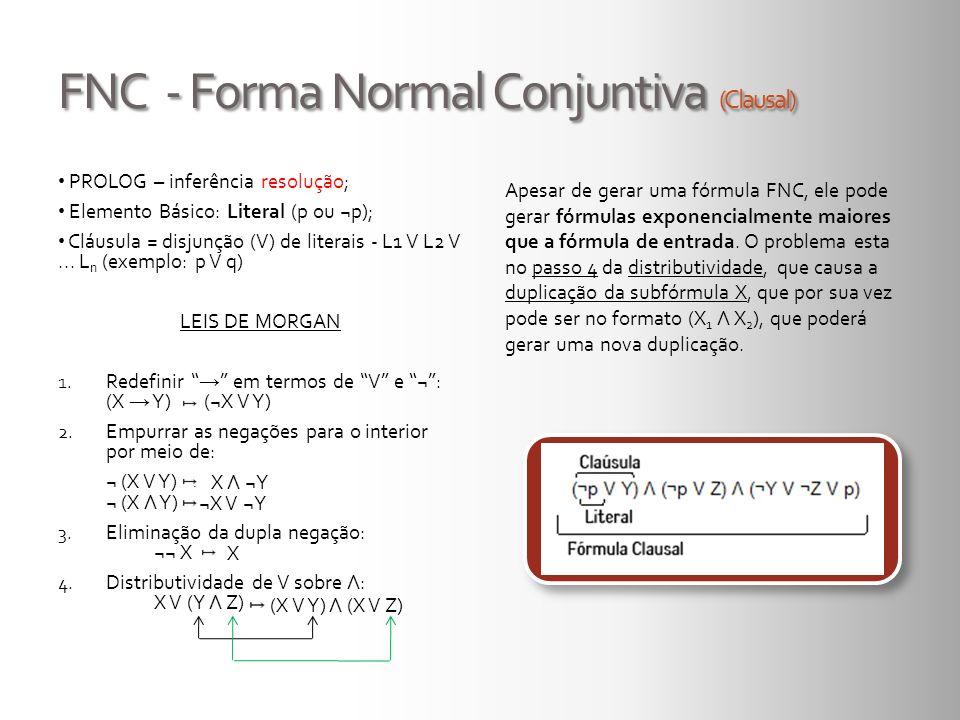 FNC - Forma Normal Conjuntiva (Clausal)