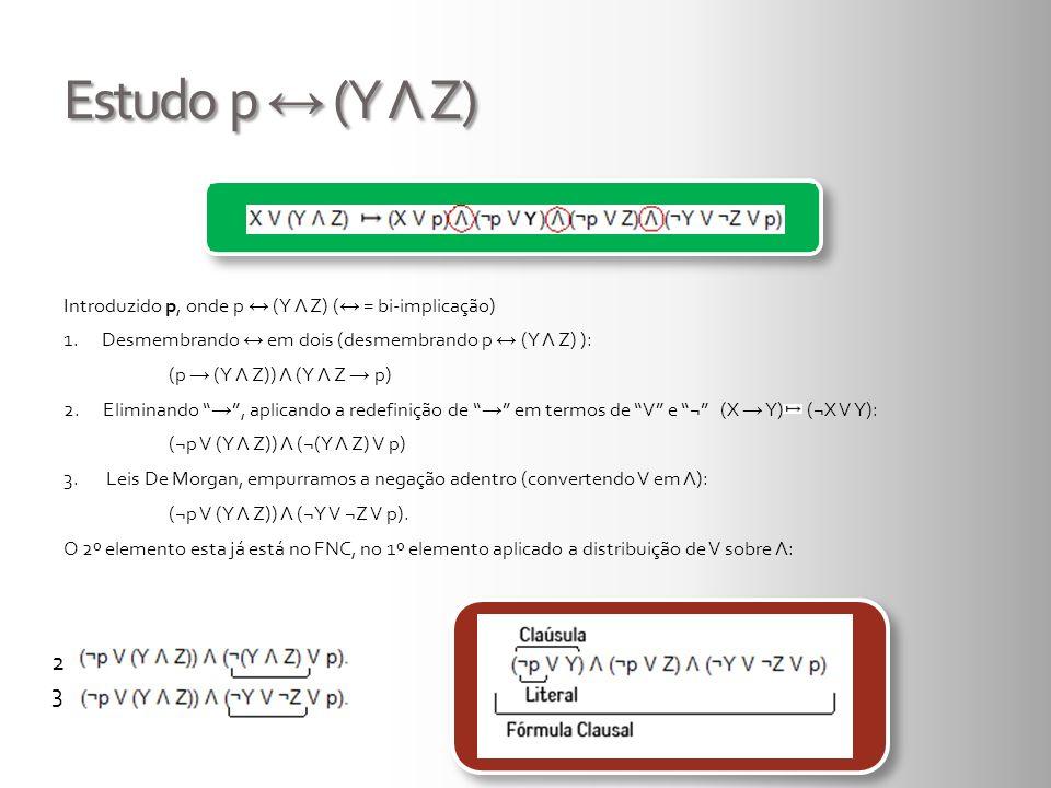 Estudo p ↔ (Y Λ Z)