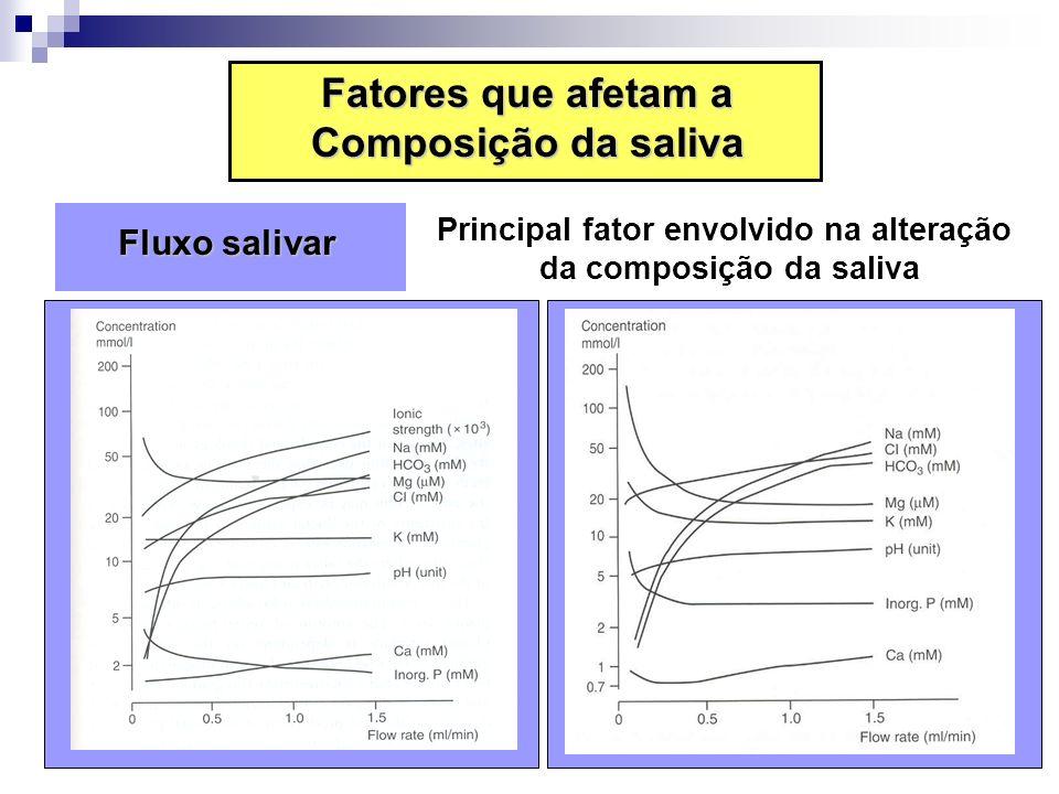Principal fator envolvido na alteração da composição da saliva
