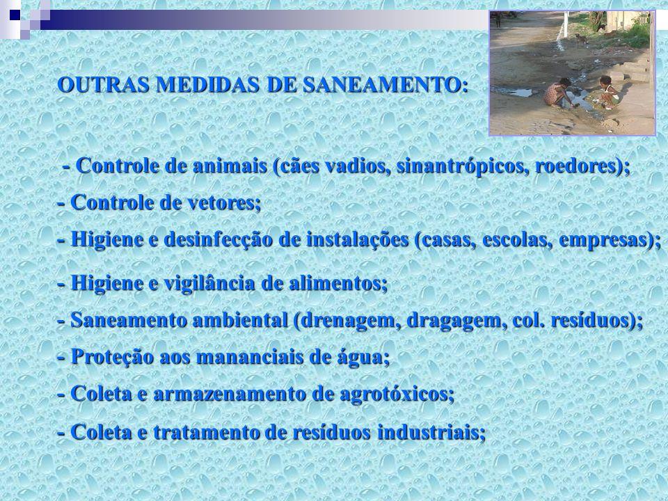 OUTRAS MEDIDAS DE SANEAMENTO: