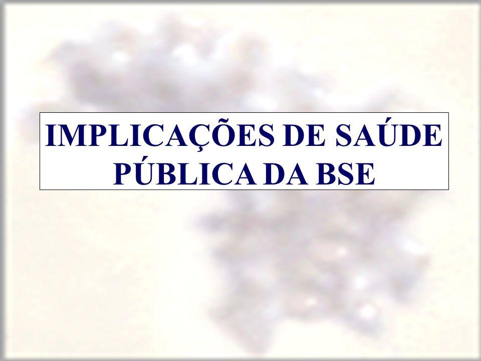 IMPLICAÇÕES DE SAÚDE PÚBLICA DA BSE