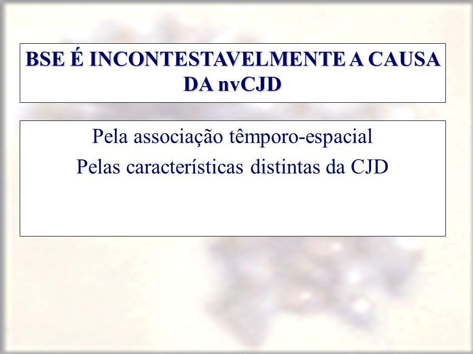 BSE É INCONTESTAVELMENTE A CAUSA DA nvCJD