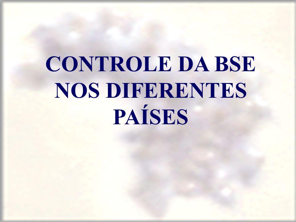 CONTROLE DA BSE NOS DIFERENTES PAÍSES