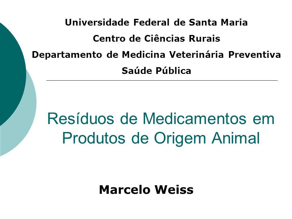 Resíduos de Medicamentos em Produtos de Origem Animal