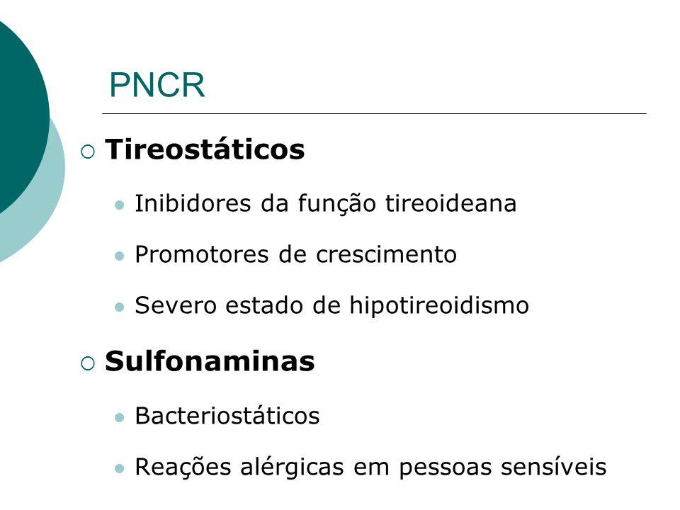 PNCR Tireostáticos Sulfonaminas Inibidores da função tireoideana